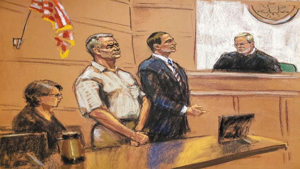 CORTE. La audiencia de ayer de Genaro García Luna en Nueva York duró unos 15 minutos. Foto: Especial