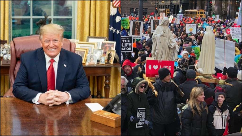 Trump Marcha por la Vida elecciones