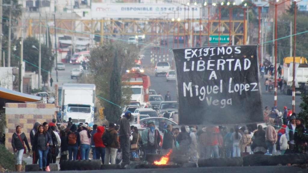 Bloqueo Zacatepec Puebla