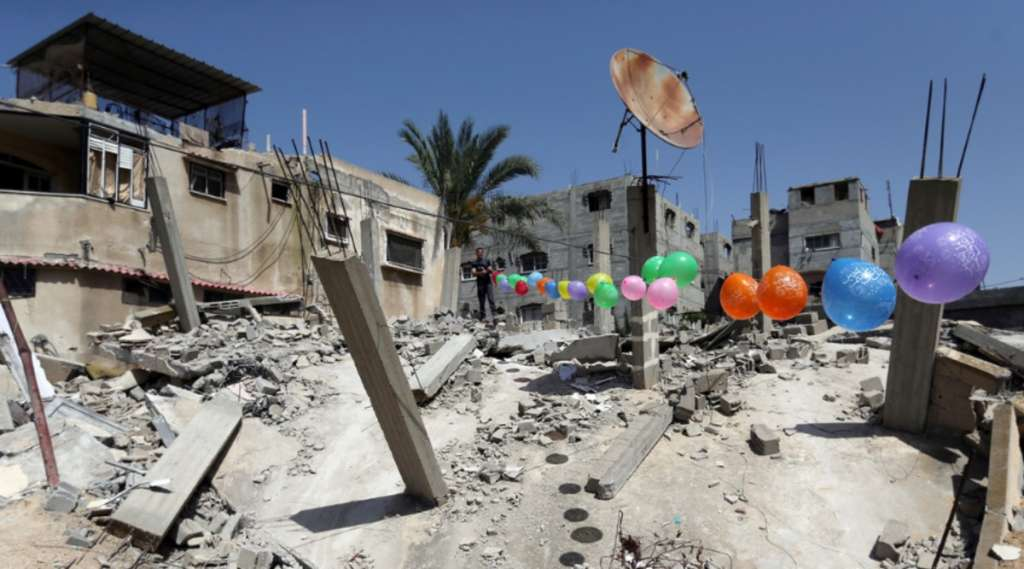 israel ataque explosiones globos gaza hamas