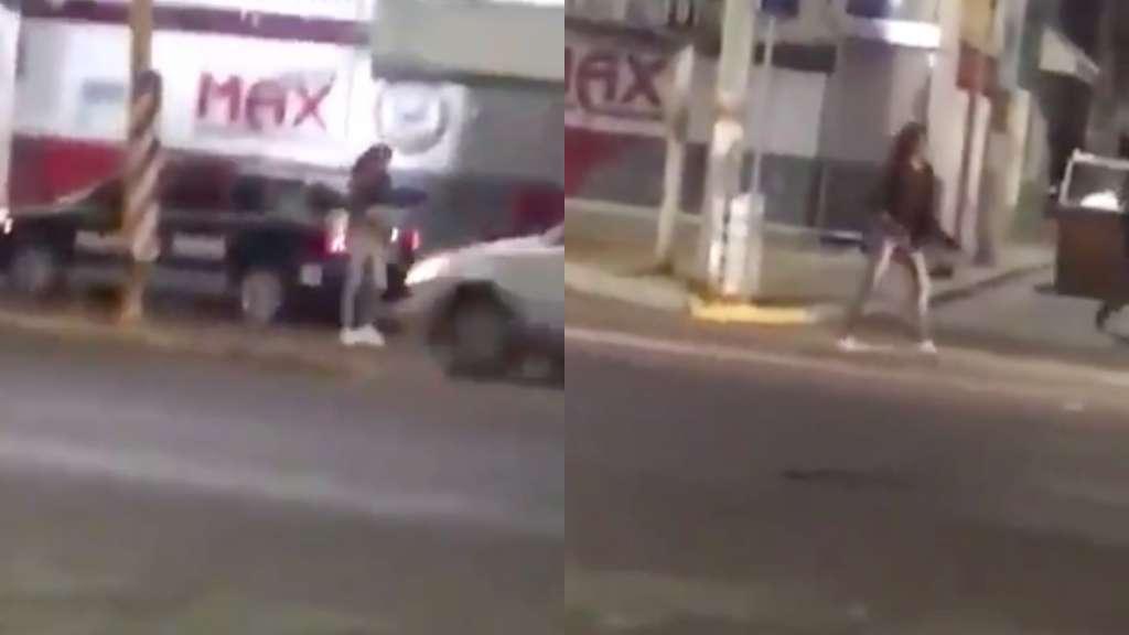Mujer roba rifle a patrulla en Aguascalientes