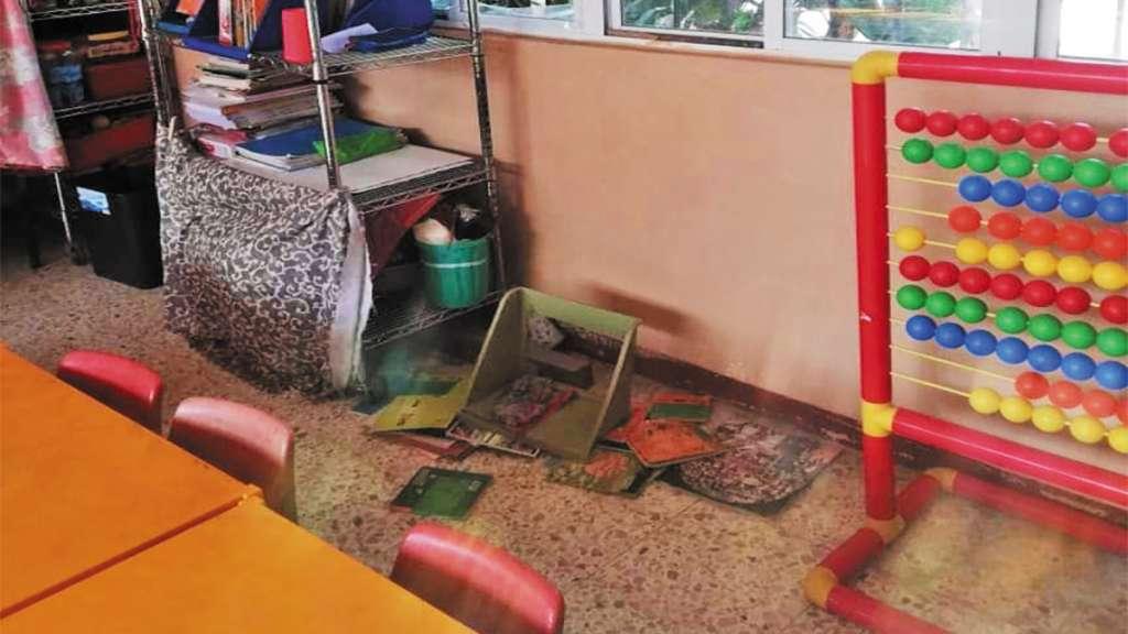 REINCIDEN. Ladrones ingresaron a robar en seis ocasiones en un jardín de niños. Foto: Especial