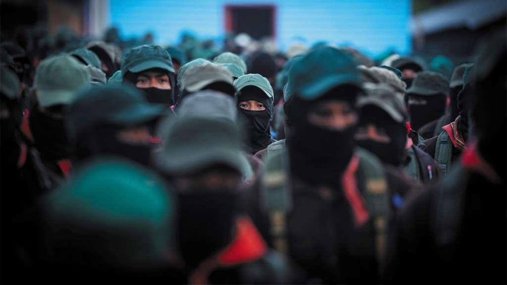 MARGARITAS, CHIAPAS, 31 DICIEMBRE 2018.- Integrantes de la comandancia y las Juntas del Buen Gobierno, bases de apoyo y organizaciones sociales, se sumaron a la celebración del 25 aniversario de la insurrección del Ejército Zapatista de Liberación Nacional, el evento se llevó a cabo en el Caracol Zapatista
