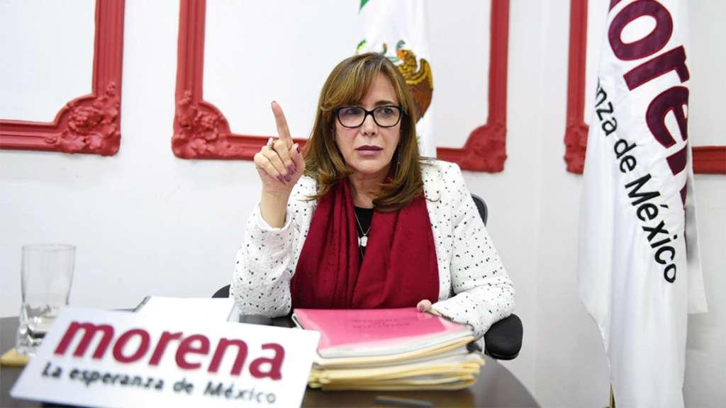 La presidenta de Morena habló de las nuevas medidas de seguridad para el padrón. Foto: Leslie Pérez