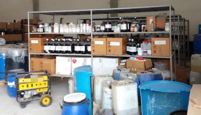 Laboratorio de fentanilo en territorio mexicano. FOTO: Cuartoscuro