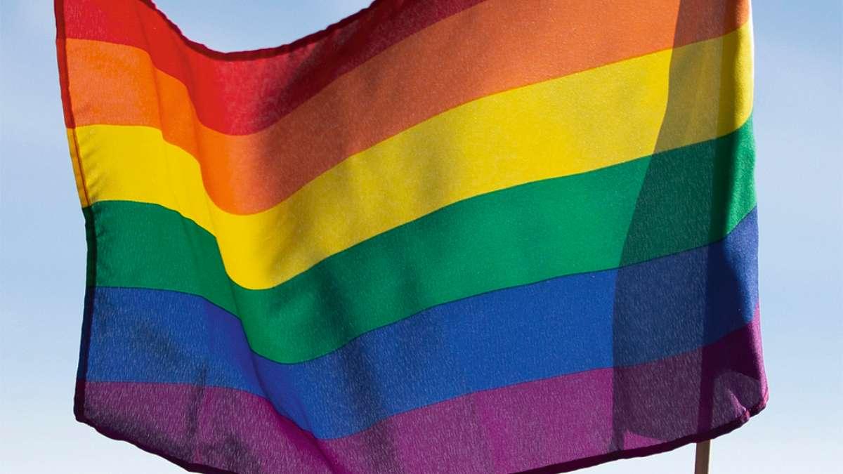 La bandera en respaldo a los homosexuales. FOTO: AP