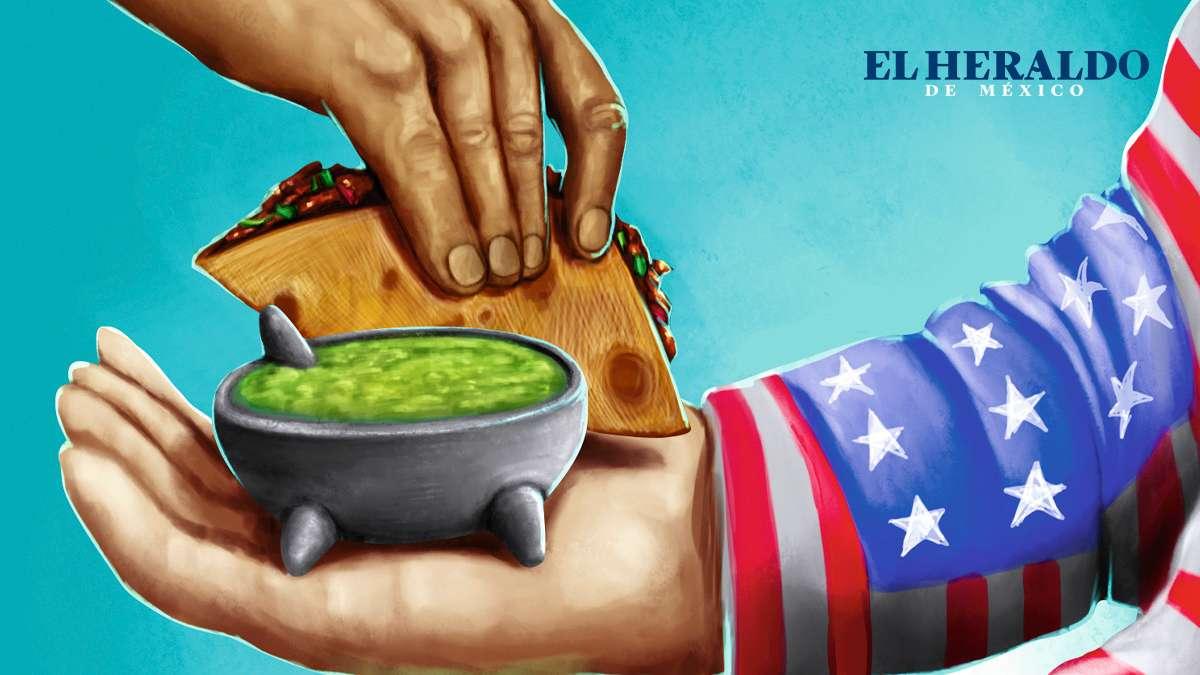 """""""Los estadounidenses aman la comida mexicana, comen nachos, tacos, burritos, tortas, enchiladas y tamales"""". Anthony Bourdain, Chef. Ilustración: Francisco Lagos"""