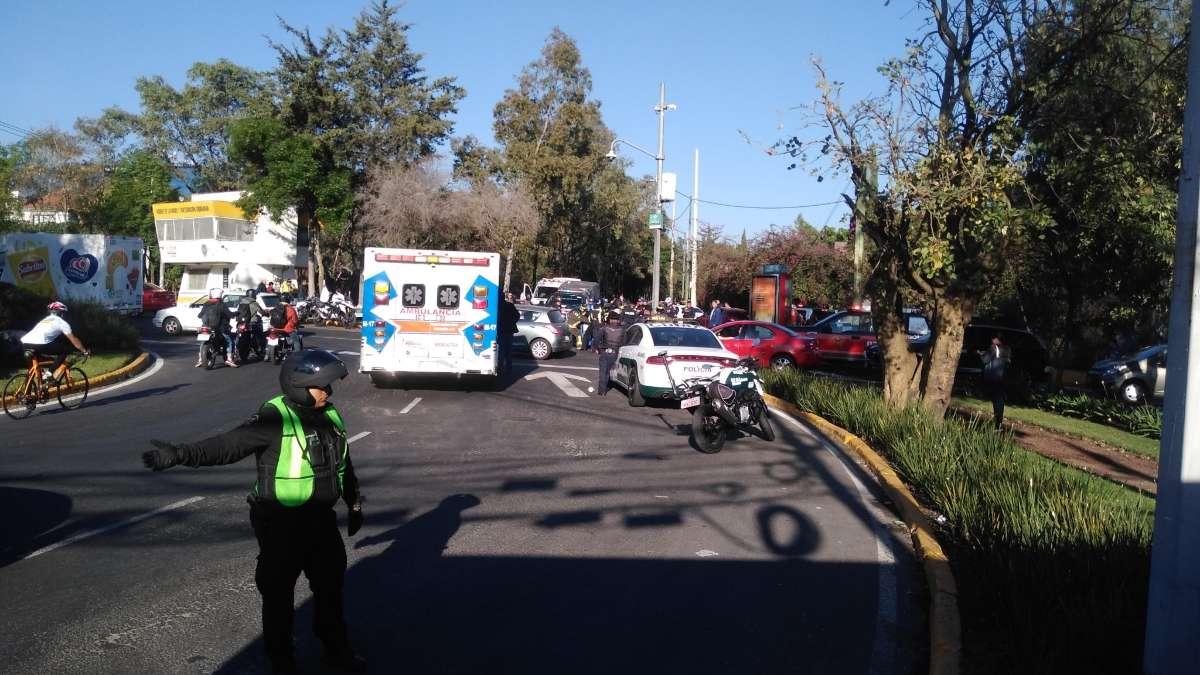 Intenso caos vial tras accidente en la Picacho-Ajusco: IMÁGENES