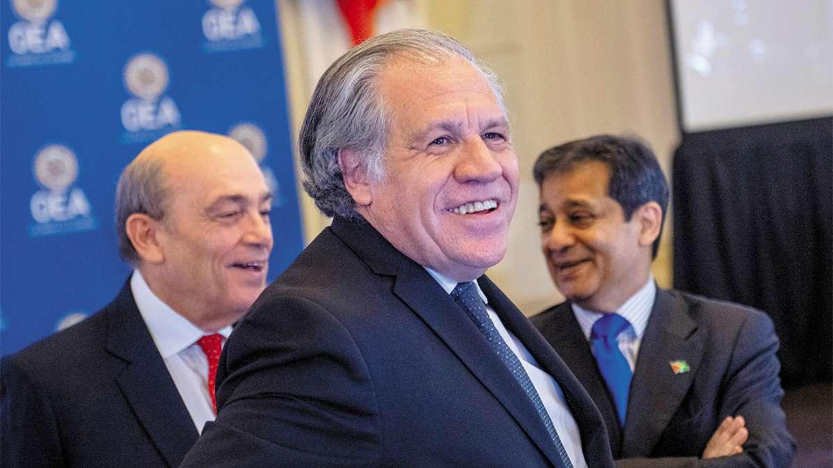TRABAJO. El político uruguayo llegó a la secretaría de la OEA en mayo de 2015. FOTO: AFP