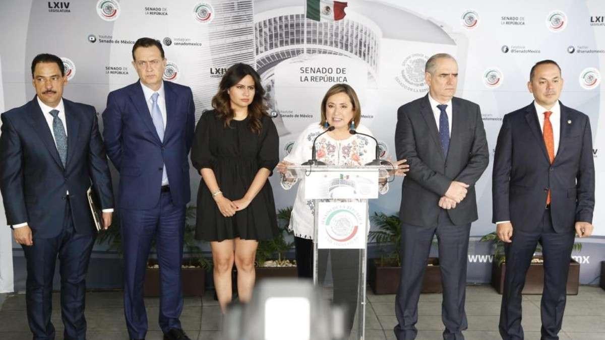 senadores-pan-empresarios-extorsion-amlo-rifa-avion-xochitl-galvez