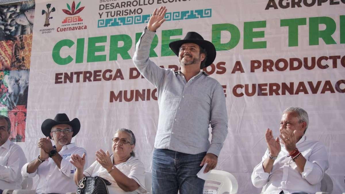 Evitaré eventos masivos por seguridad, pero no abandonaré a la gente: Alcalde de Cuernavaca