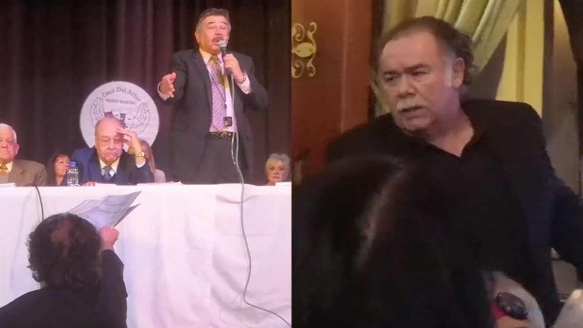 VIDEO Hay tiro Se arma pelea entre los actores Jesus Ochoa y Jorge Ortiz de Pinedo