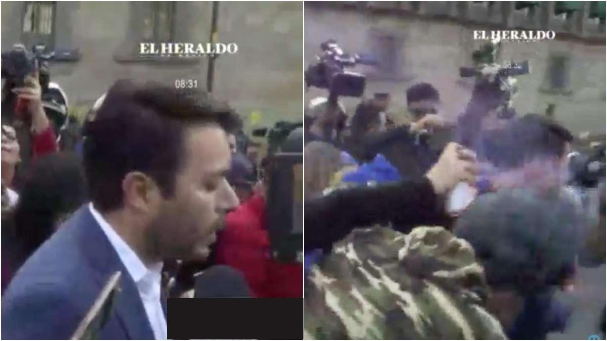 feministas-subsecretario-cdmx-agredido-Arturo-Medina-palacio-nacional-video