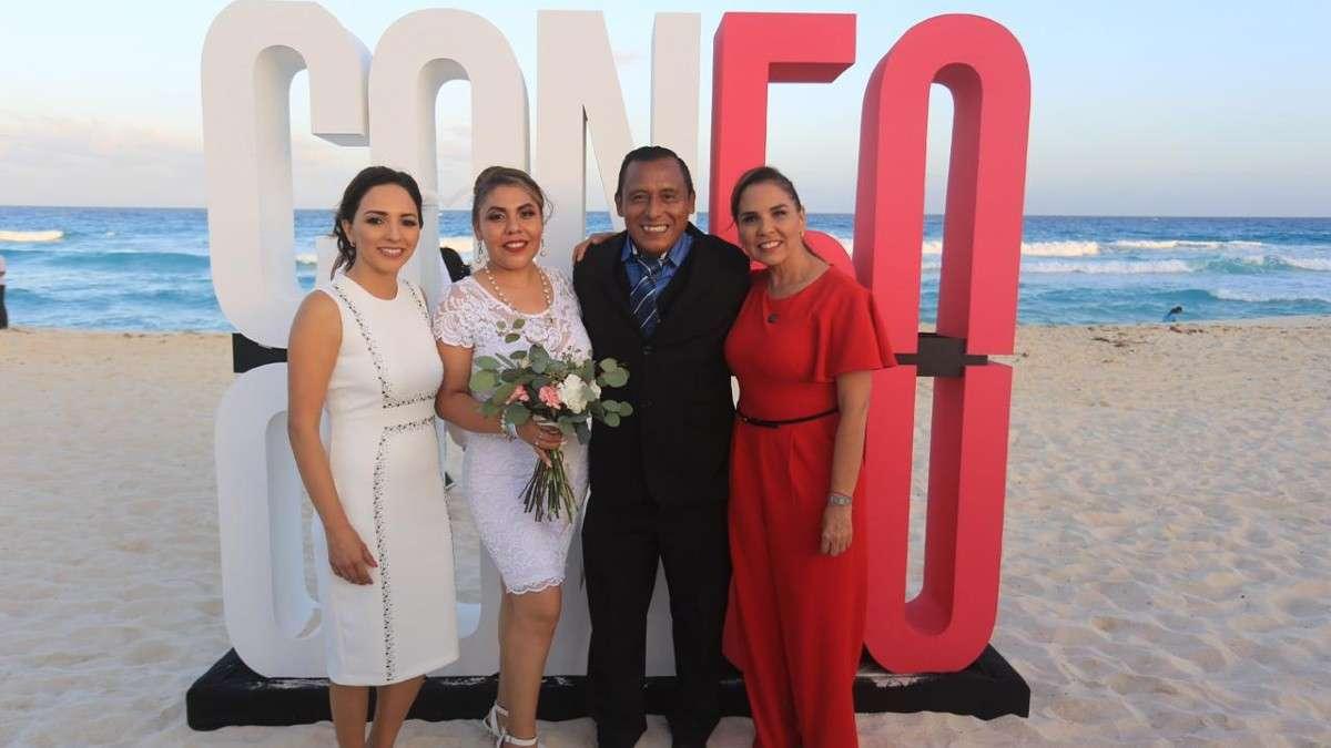 mara lezama bodas colectivas caribe cancun