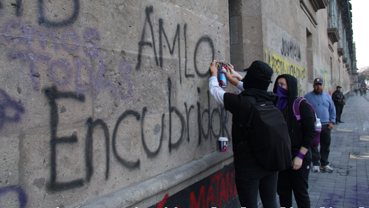 pintas muros inah DGCPN marcha feministas cdmx