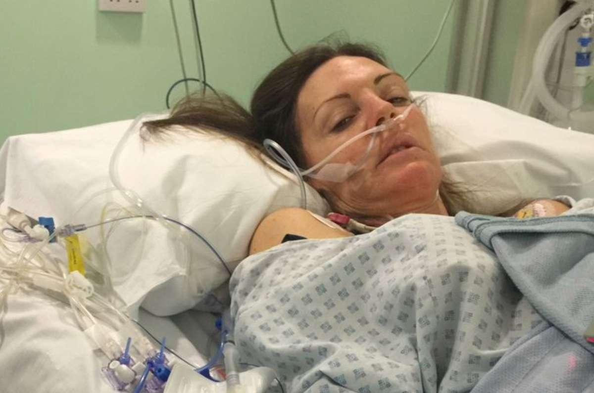 Andrea Sheardown en el hospital