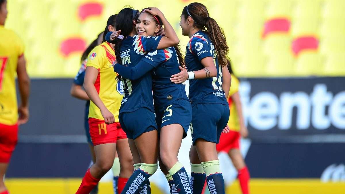 ACERTADA. Jana Gutiérrez (25) marcó el primer gol en Morelia. Foto: Mexsport