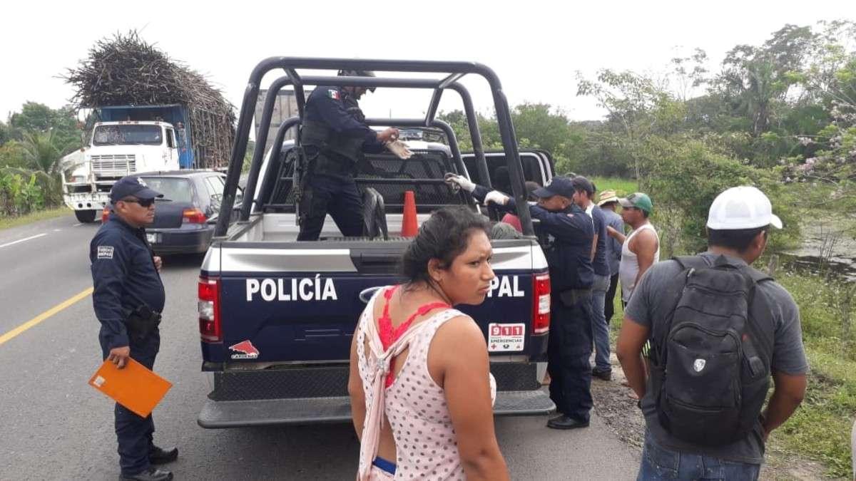 tabasco linchamiento policia municipal robo menores