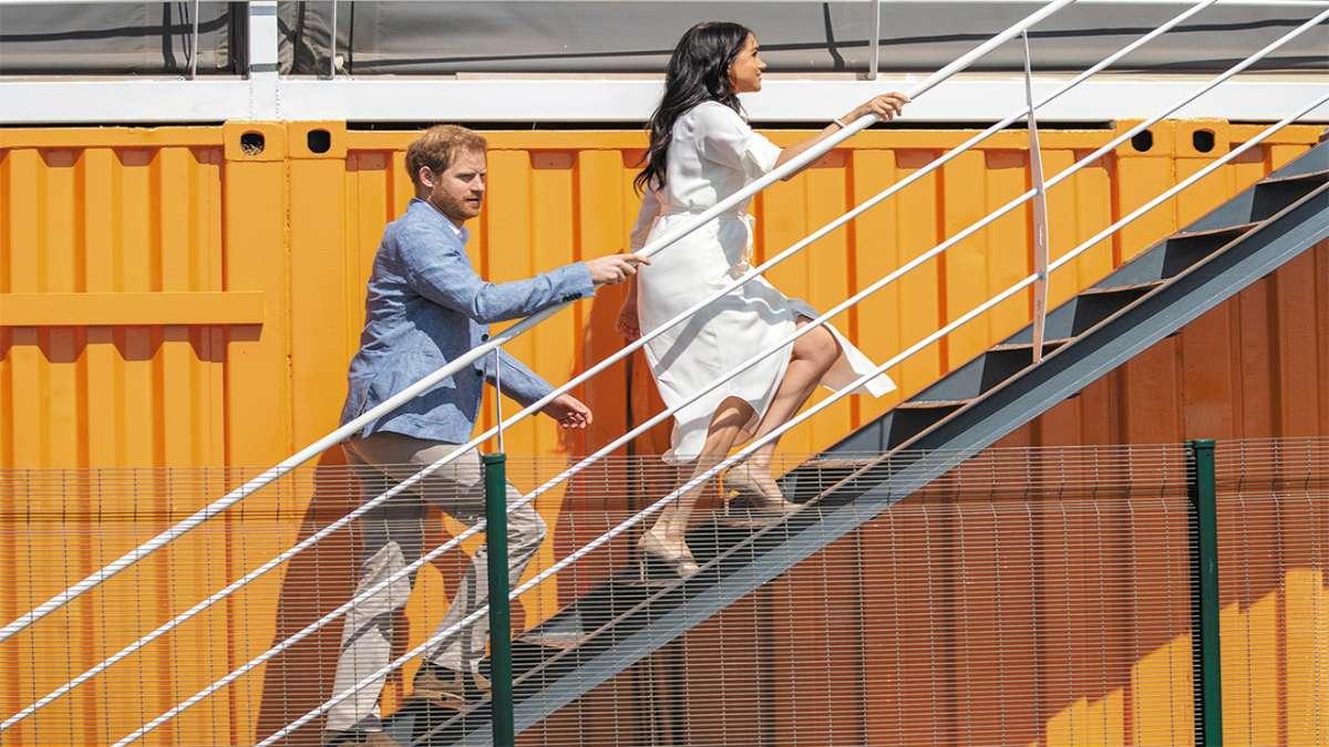 CAMBIO. Enrique y Meghan anunciaron hace un mes su decisión de apartarse de la casa real. Foto: AFP