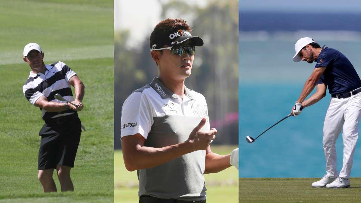 Rory McIlroy, Tae Hee Lee y  Abraham Ancer son tres competidores que estarán participando en el  WGC-Mexico Championship. Fotos: AP