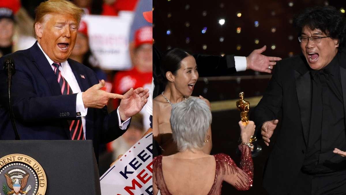 Donald Trump se burla de que haya ganado un Oscar la pelIcula Parasite