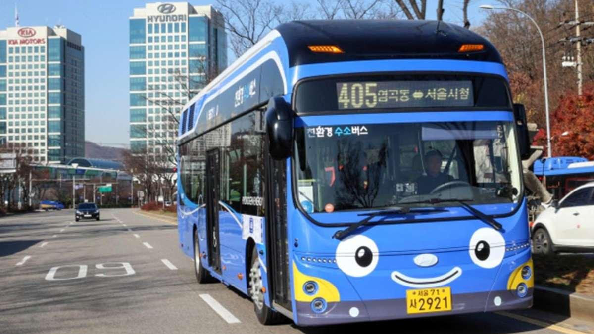 Autobus impulsado con hidrogeno