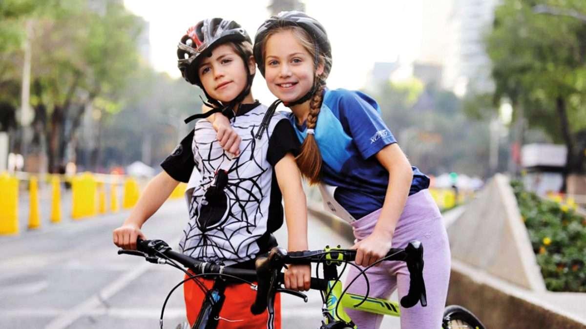 PROSPECTO. La pequeña Ana Paula Appendini deslumbra en ciclismo y atletismo. Foto: INDEPORTECDMX