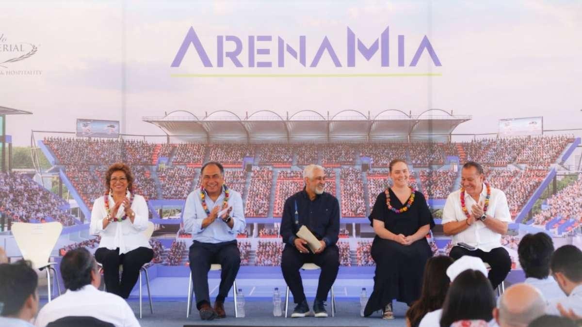 El gobernador y algunos empresarios visitaron las obras del complejo. Foto: Especial