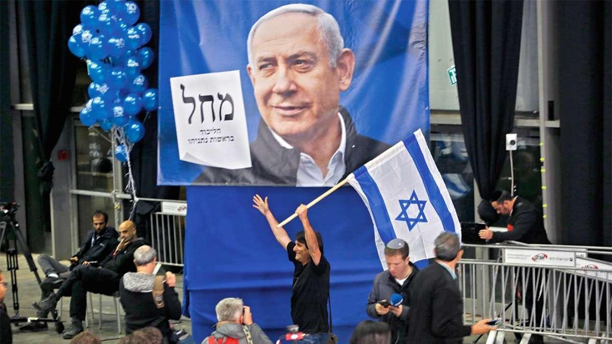 FAVORITO. El Likud, partido de Netanyahu, dio todo su apoyo al primer ministro. FOTO: AFP
