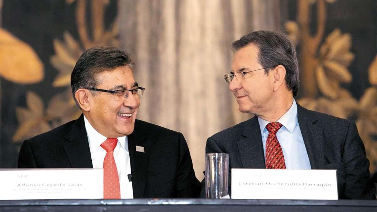 MAESTROS. Alfonso Cepeda se reunió con Esteban Moctezuma. Foto: Especial