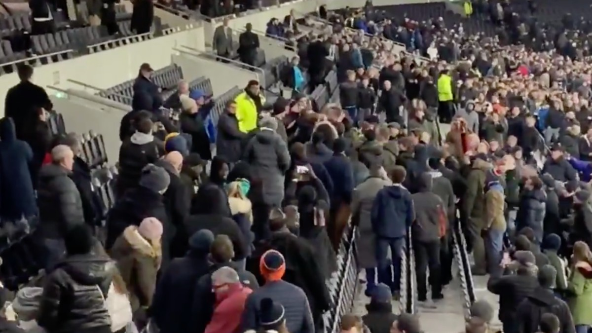 VIDEO: Jugador del Tottenham golpea a aficionado por insulto racista