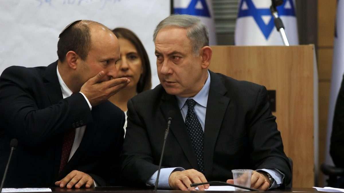 TRABAJOS. Benjamin Netanyahu se reunió ayer con el bloque de derecha israelí. Foto: AFP