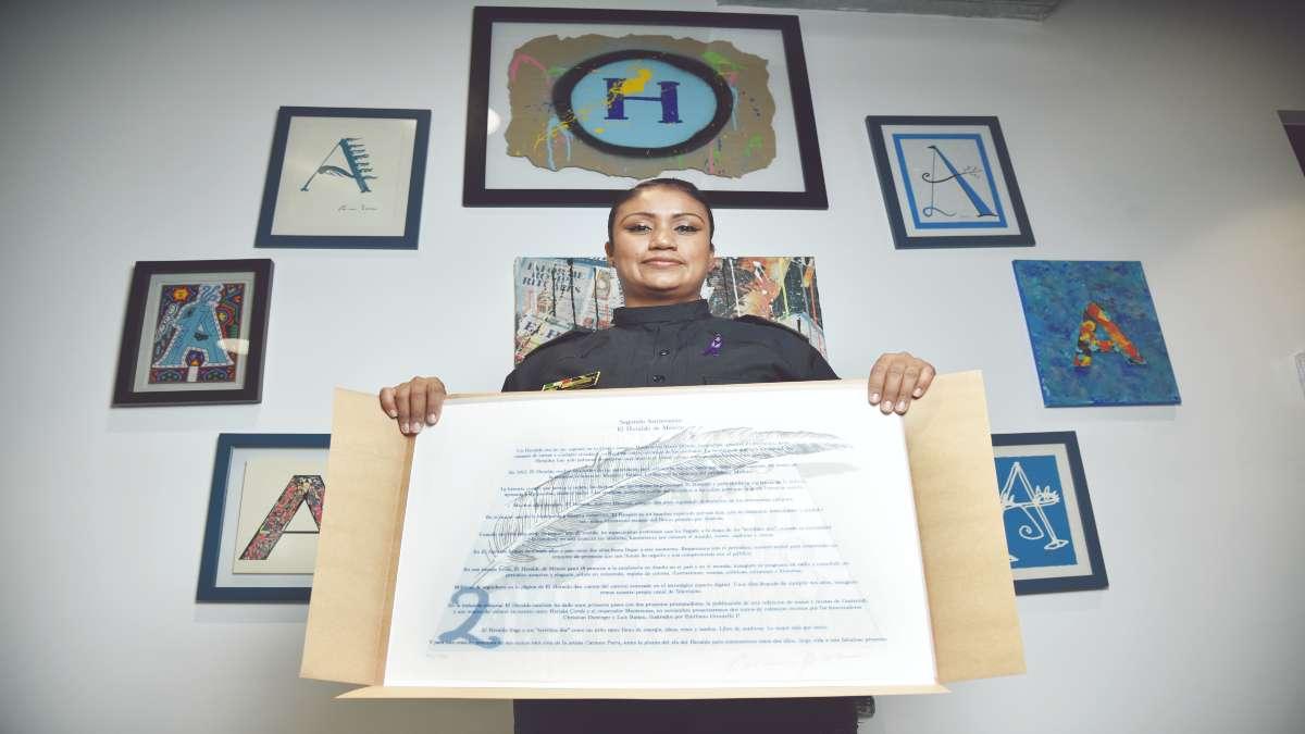 HEROÍNA. Eloísa Quijano logró rescatar a la recién nacida de entre dos paredes. Foto: Daniel Ojeda