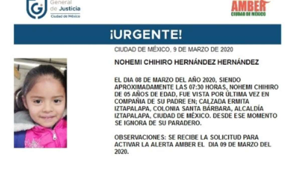 Ayuda a encontrara a Nohemi. Foto: Especial