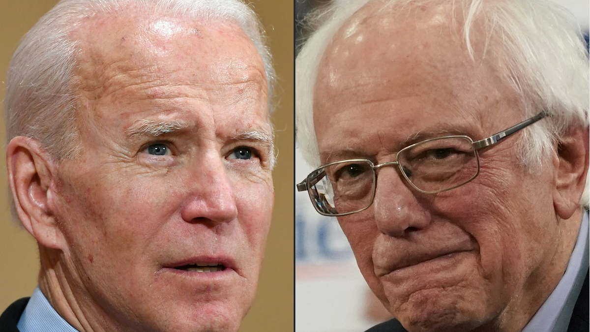 Bernie Sanders y Joe Biden demócratas