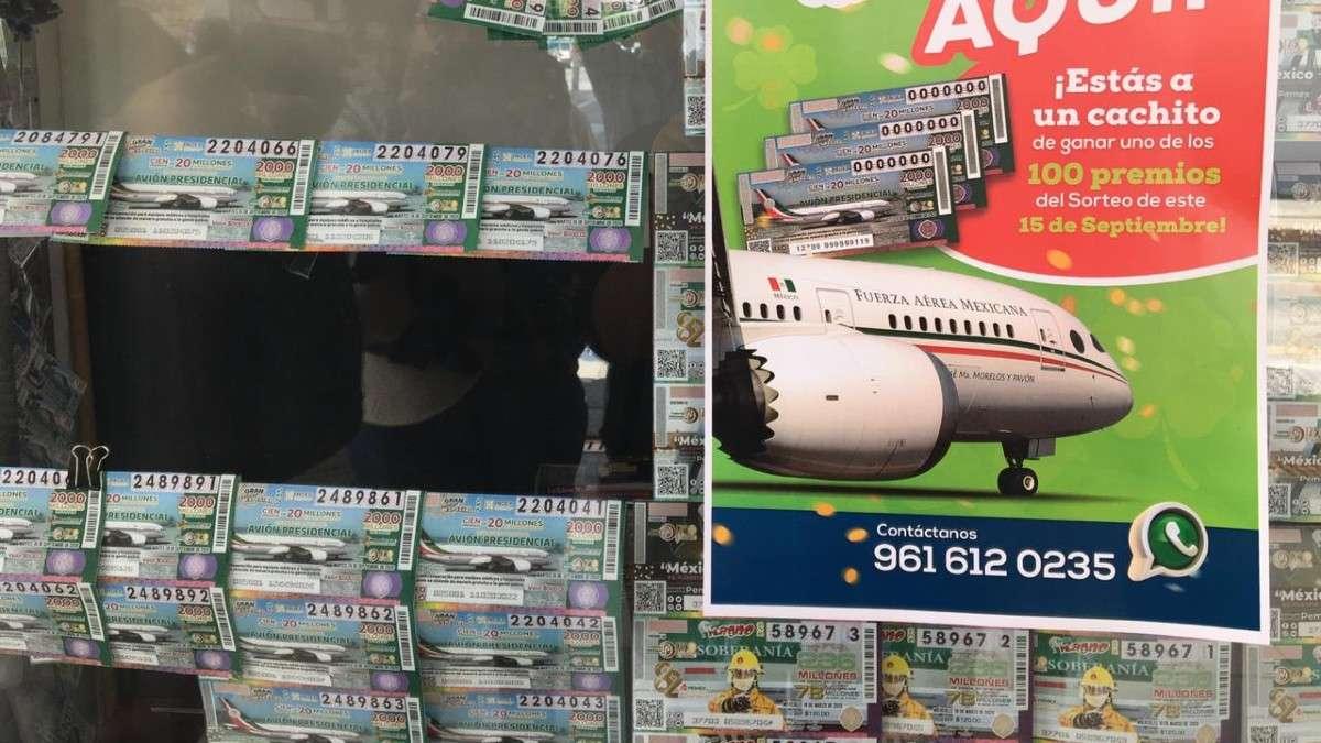 chiapas cachitos loteria sorteos avion presidencial