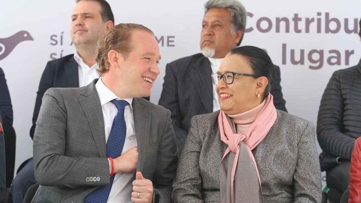 Santiago Taboada y Rosa Icela Rodriguez