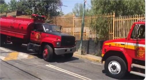 Se registra incendio en el CCH Sur. Foto: Especial