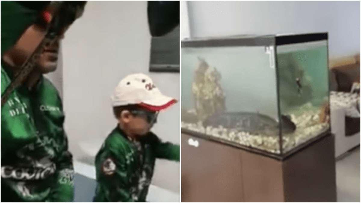 cuarntena-pesca-dentro-de-casa-video-viral-padre-e-hijo-coronavirus-que-hacer-en-casa