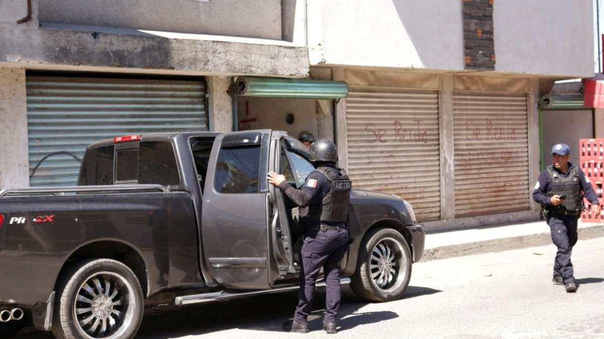 operativo puebla mercado drogas armas de fuego