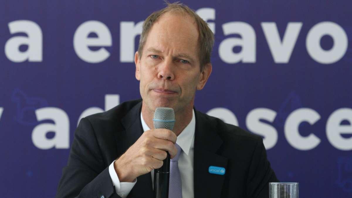 Christian Skoog, representante de Unicef en México. FOTO: CUARTOSCURO