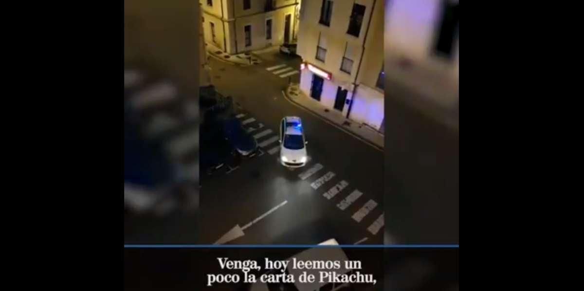 Video, Policía, Noreña, España, Carta, Pikachu, El Heraldo de México,