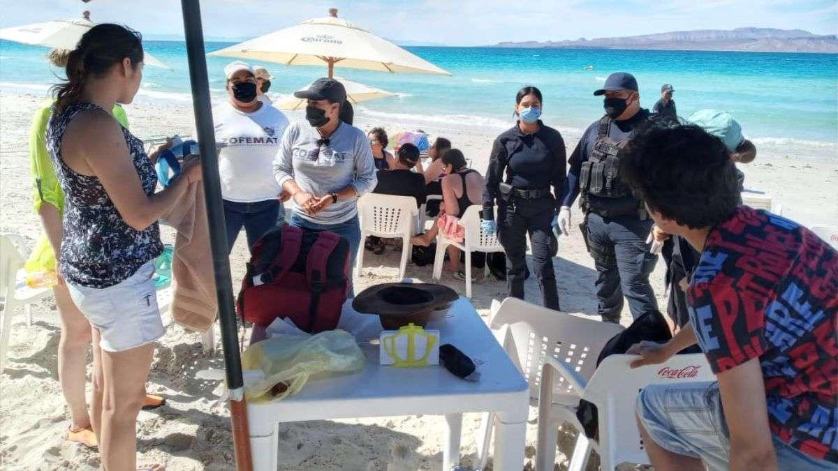 Playas de La Paz cerrarán de manera indefinida. Foto: Germán Medrano