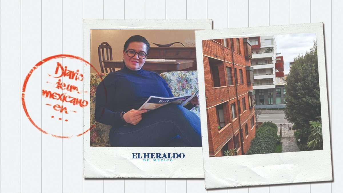 ESTADO DE ALERTA. Karla Ysunza, mexicana de 52 años, que radica en la ciudad de Bérgamo, dice que en el edificio donde vive han muerto tres personas por COVID-19. Foto: Especial