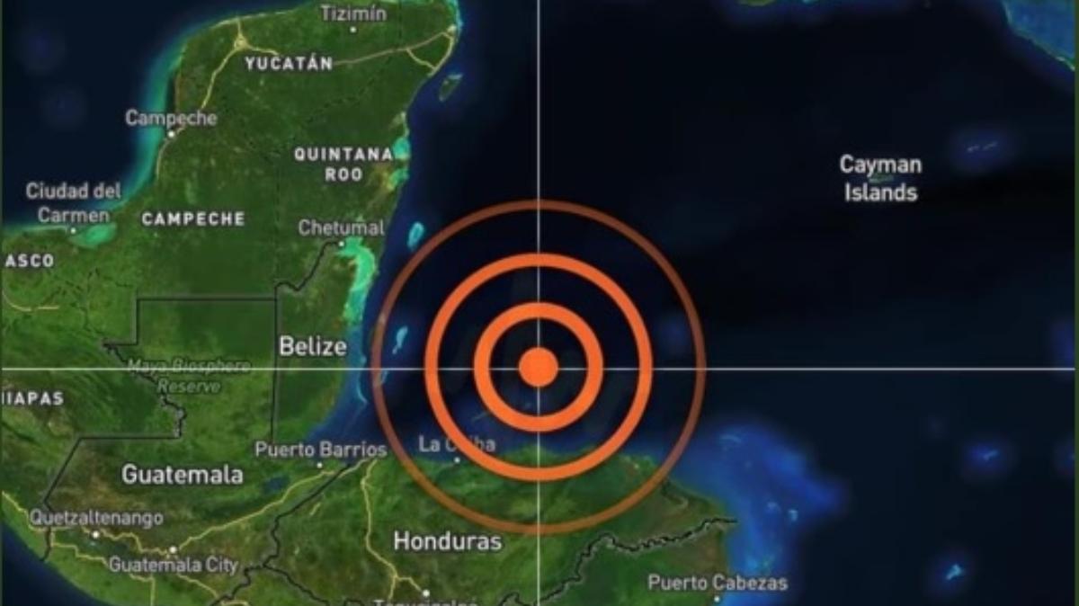 Das Epizentrum im Norden von Honduras | Bildquelle: https://www.cronica.com.mx/notas-fuerte_sismo_en_honduras_se_siente_en_chetumal-1151190-2020 © NA | Bilder sind in der Regel urheberrechtlich geschützt