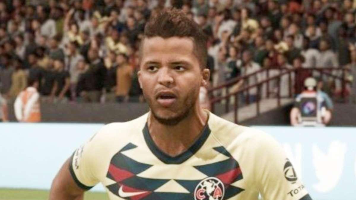 FIGURA. El Dos Santos virtual hizo el primer gol del América. Foto: EASPORTS