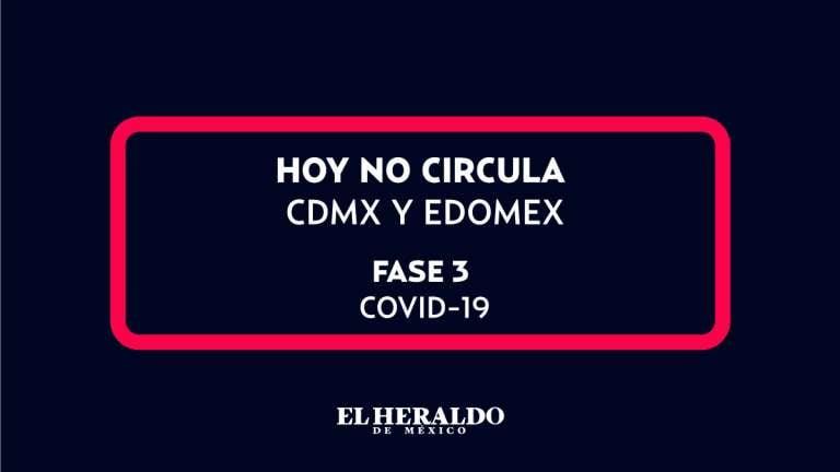 Hoy no circula fase tres coronavirus cdmx