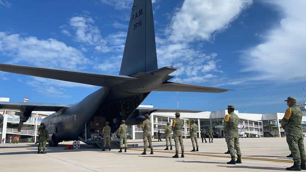 avion hercules 16 toneladas insumos medicos insabi covid19 coronavirus