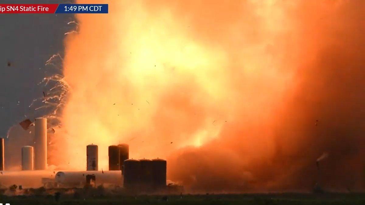 sn2 spacex explosion nasa