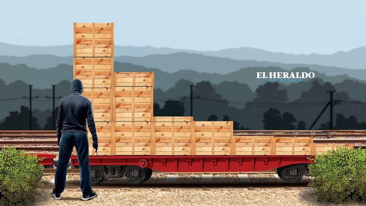 El robo al transporte ferroviario ha crecido desde hace cinco años. Gráfico: Miguel Ulloa